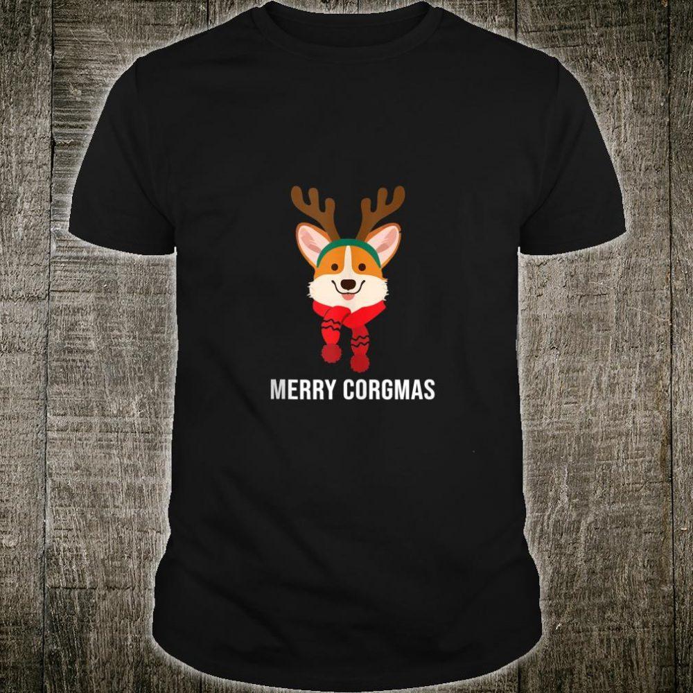 Funny Merry Corgmas Reindeer Christmas For Corgis Shirt
