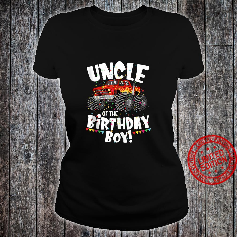 Funny Monster Truck Uncle Of The Birthday Boy For Him Shirt ladies tee