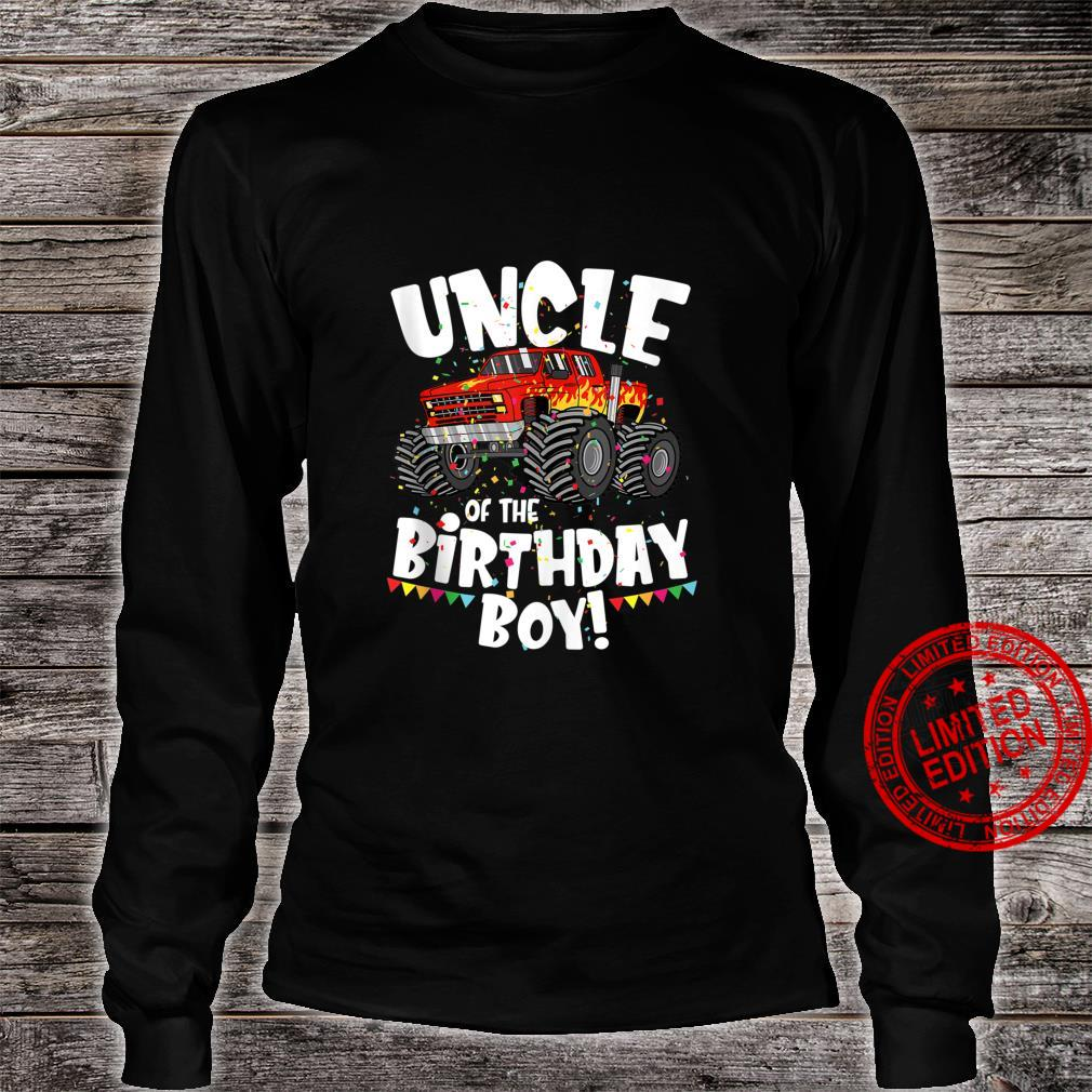 Funny Monster Truck Uncle Of The Birthday Boy For Him Shirt long sleeved