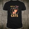 Gift Watercolor Just A Girl Who Loves Cats Shirt