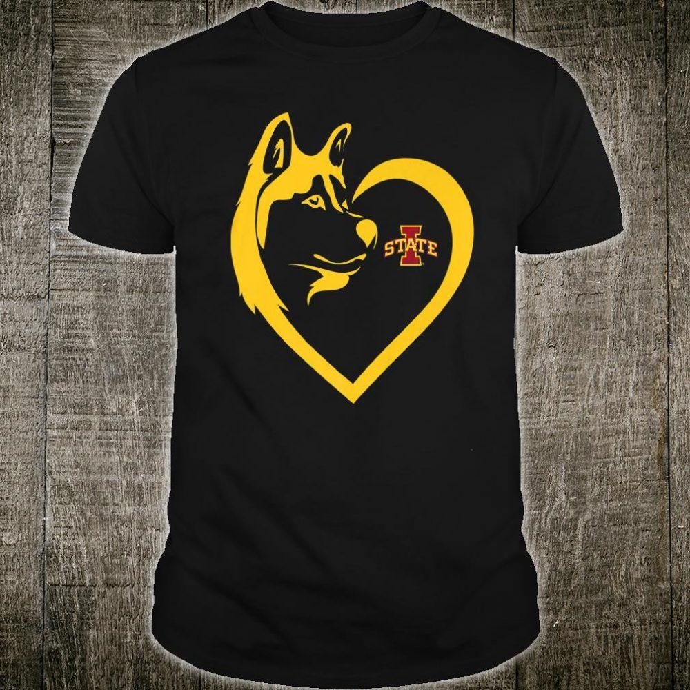 Iowa State Cyclones Dogs Husky Heart Team Alumni Shirt