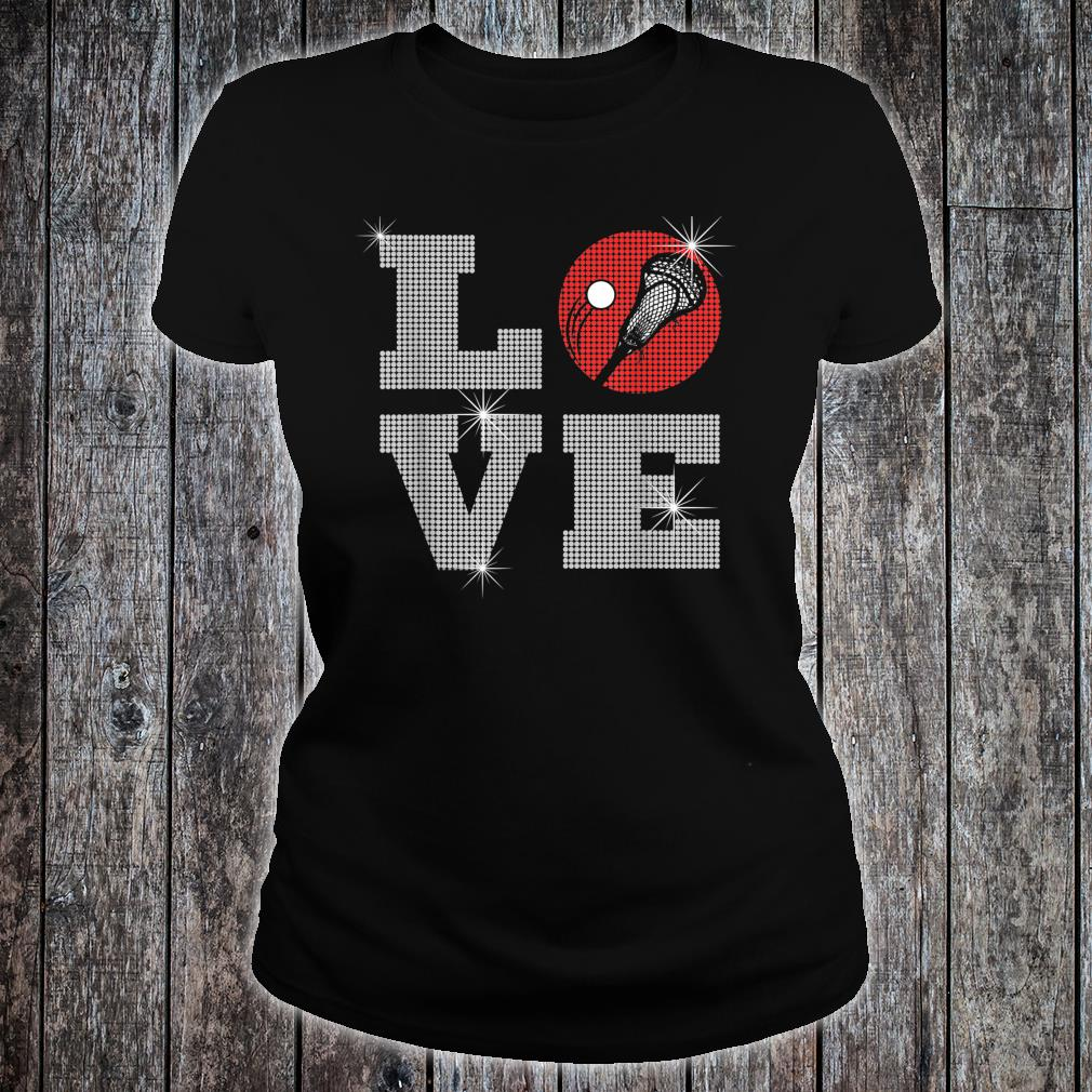 Love Lacrosse LAX Mom Player Gift Lacrosse Team Coach Shirt ladies tee