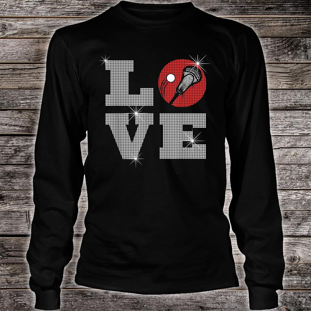 Love Lacrosse LAX Mom Player Gift Lacrosse Team Coach Shirt long sleeved