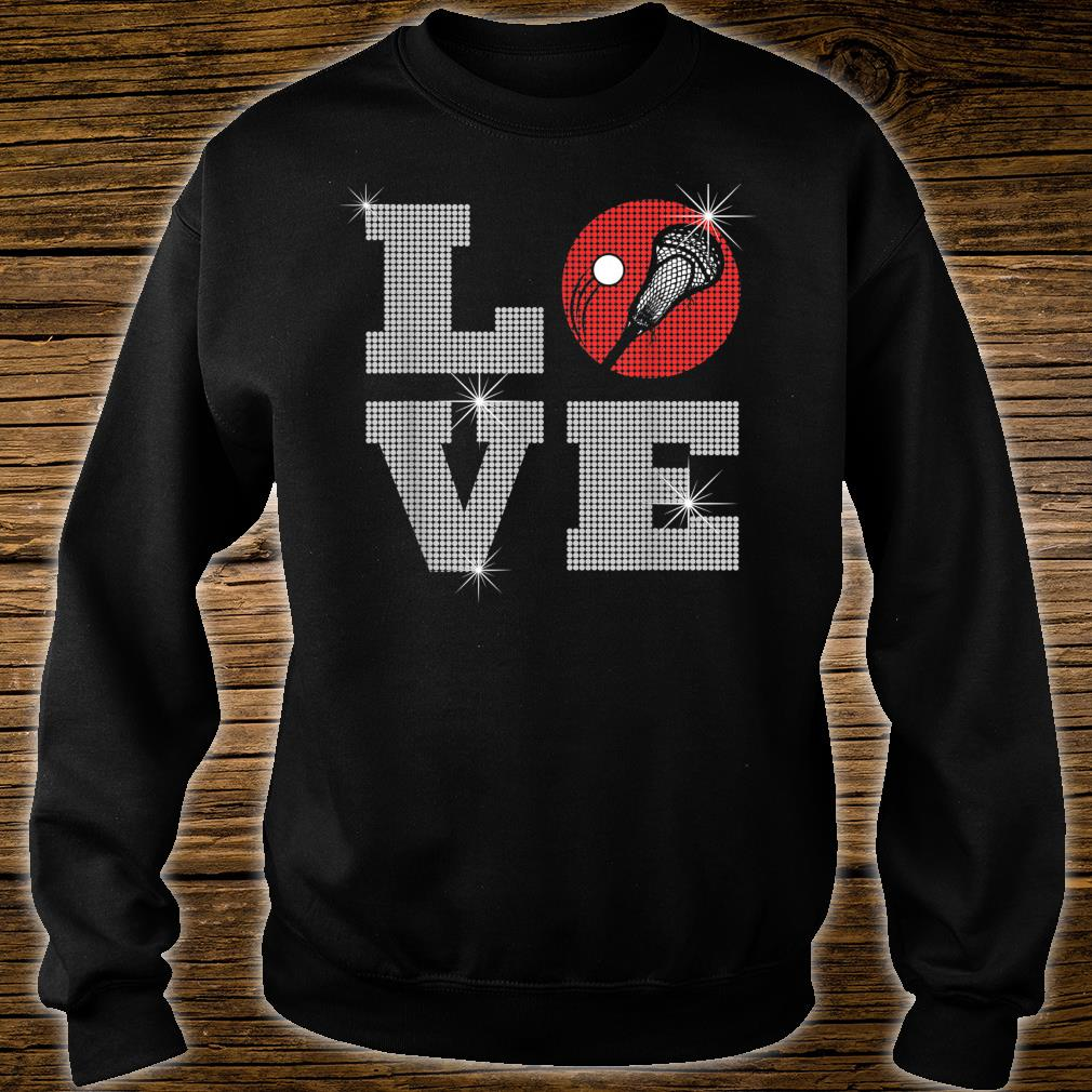 Love Lacrosse LAX Mom Player Gift Lacrosse Team Coach Shirt sweater