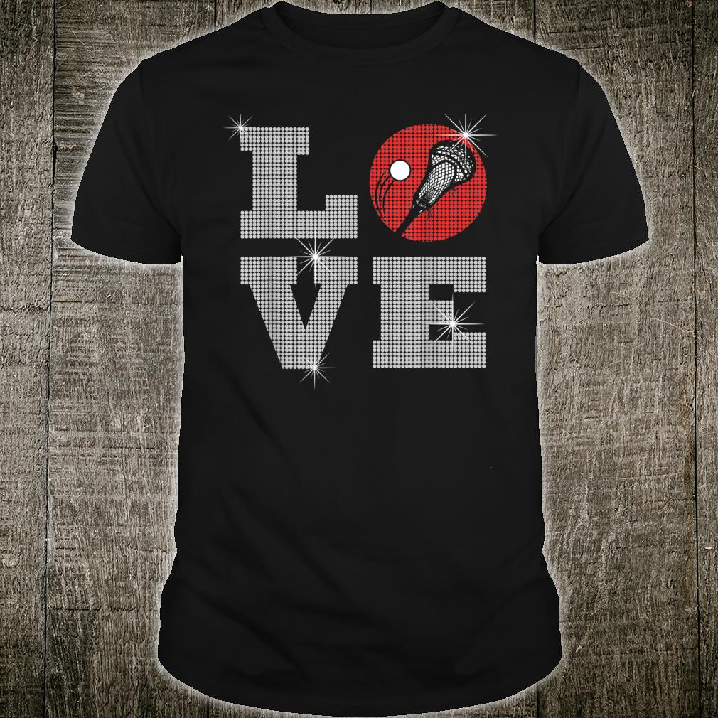 Love Lacrosse LAX Mom Player Gift Lacrosse Team Coach Shirt