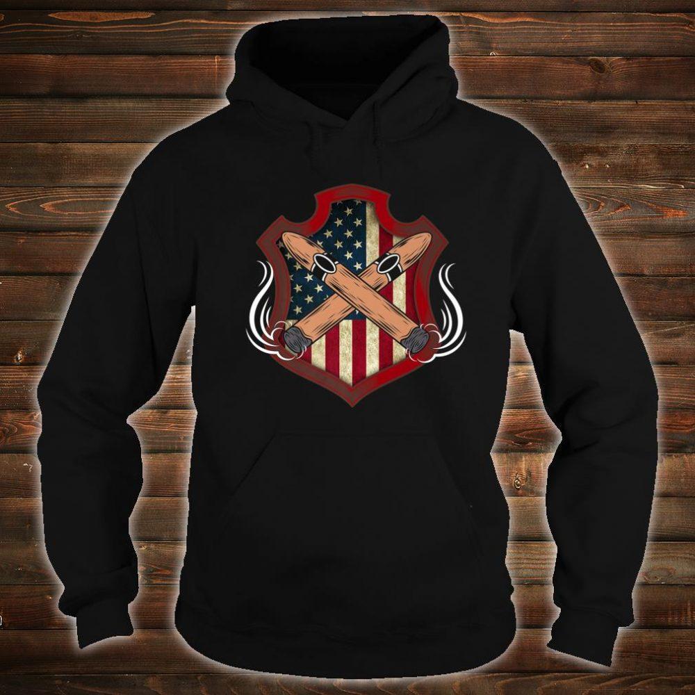 Mens American Flag Cigar Smoking Smoker Shirt hoodie