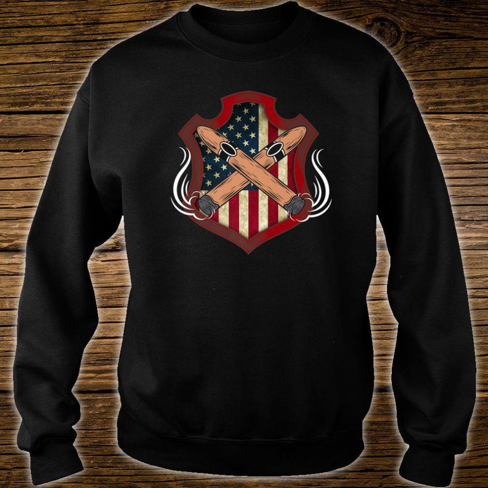 Mens American Flag Cigar Smoking Smoker Shirt sweater