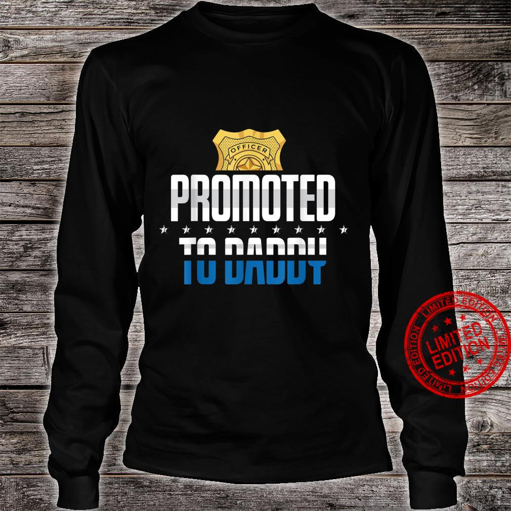 Mens New First Time Dad Training Police Law Enforcement Daddy Shirt long sleeved
