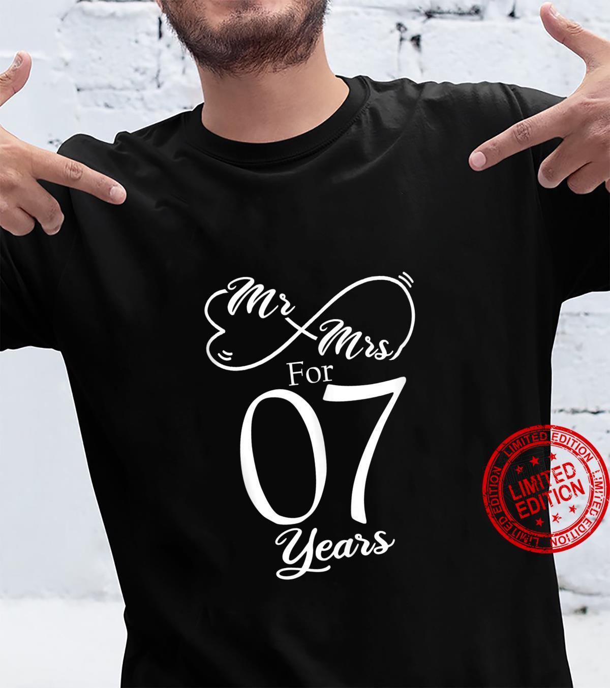 Mr. & Mrs. For 7 Years 7th Wedding Anniversary Matching Shirt