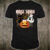 Nurse Squad Halloween Pumpkin Black Cat Boo Costume Shirt