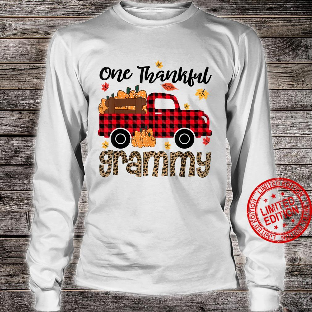 One Thankful Grammy Thanksgiving Day Family Matching Shirt long sleeved
