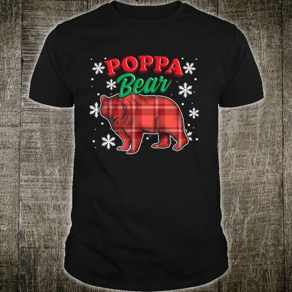 Poppa Bear Buffalo Plaid Matching Bear Family Shirt