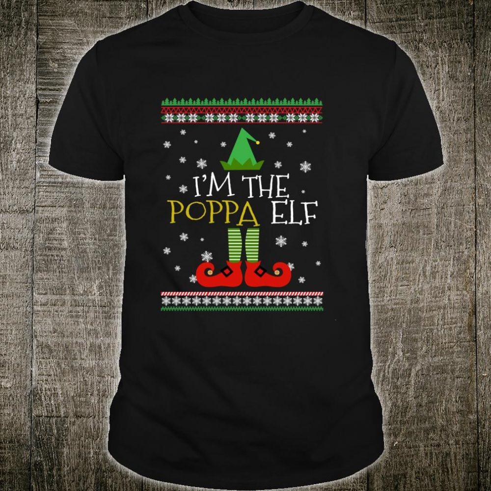 Poppa Elf Matching Family Group Christmas Party Pajama Shirt