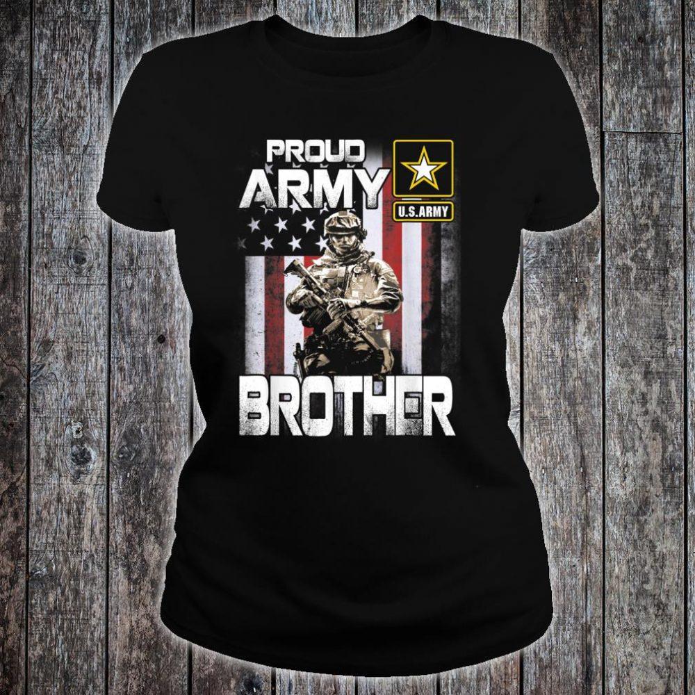 Proud Army Brother Shirt US Military Pride Shirt ladies tee