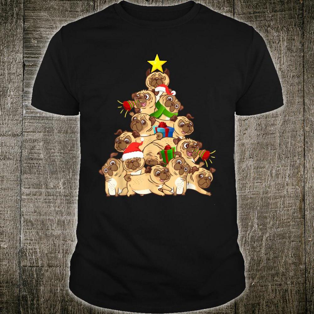 Pug Dogs Tree Christmas Xmas Pet Animal Dog Shirt