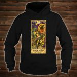 Pumpkin Head Vintage Goth Tarot Card Fortune Shirt hoodie