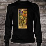 Pumpkin Head Vintage Goth Tarot Card Fortune Shirt long sleeved