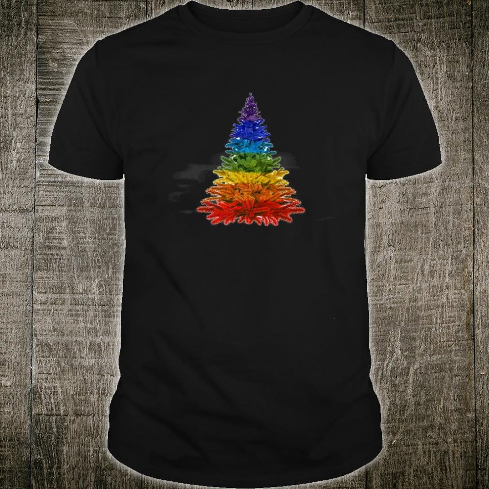 Rainbow Christmas Tree Shirt
