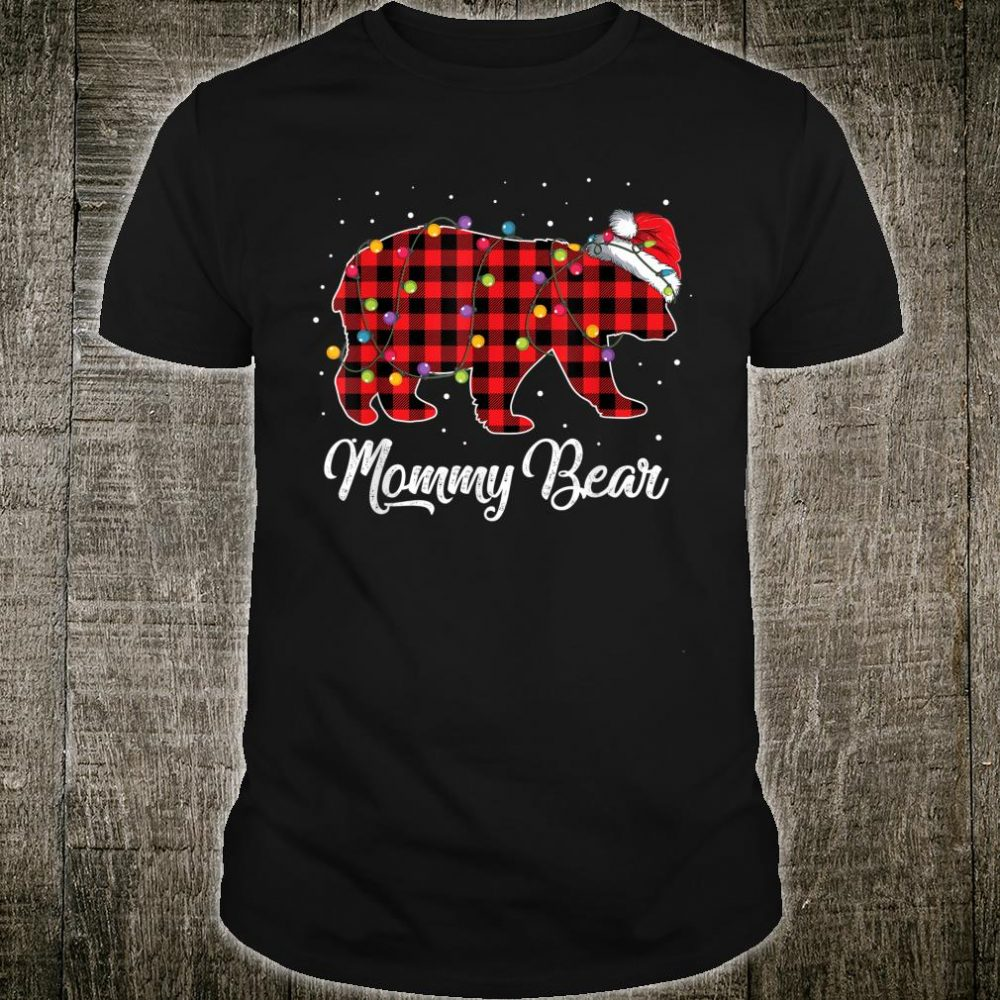 Red Plaid Grampy Bear Christmas Matching Buffalo Pajama Shirt
