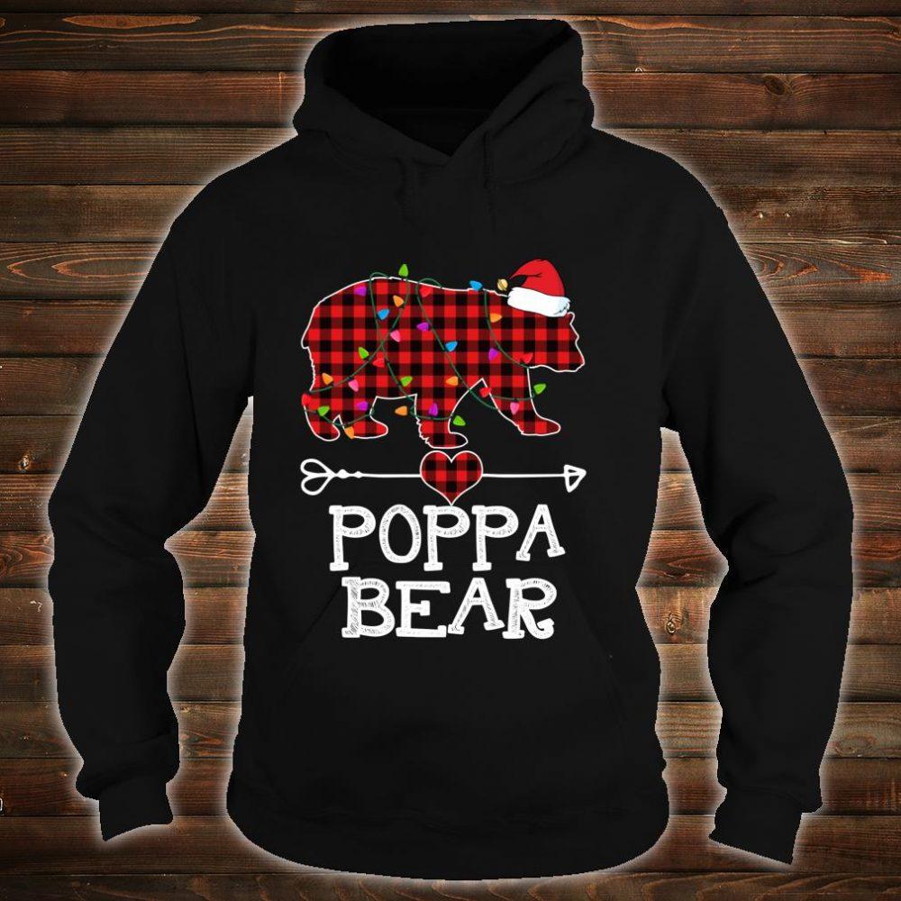 Red Plaid Poppa Bear Buffalo Matching Family Pajama Shirt hoodie