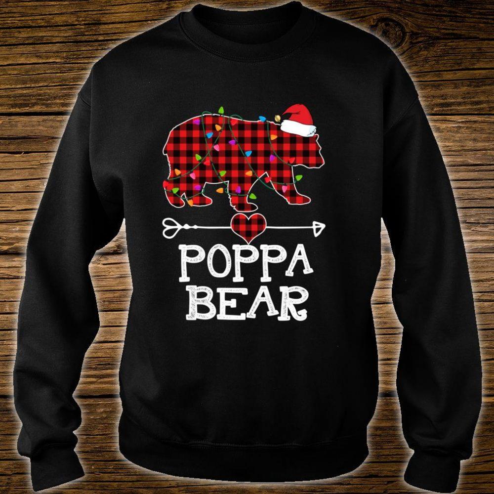 Red Plaid Poppa Bear Buffalo Matching Family Pajama Shirt sweater