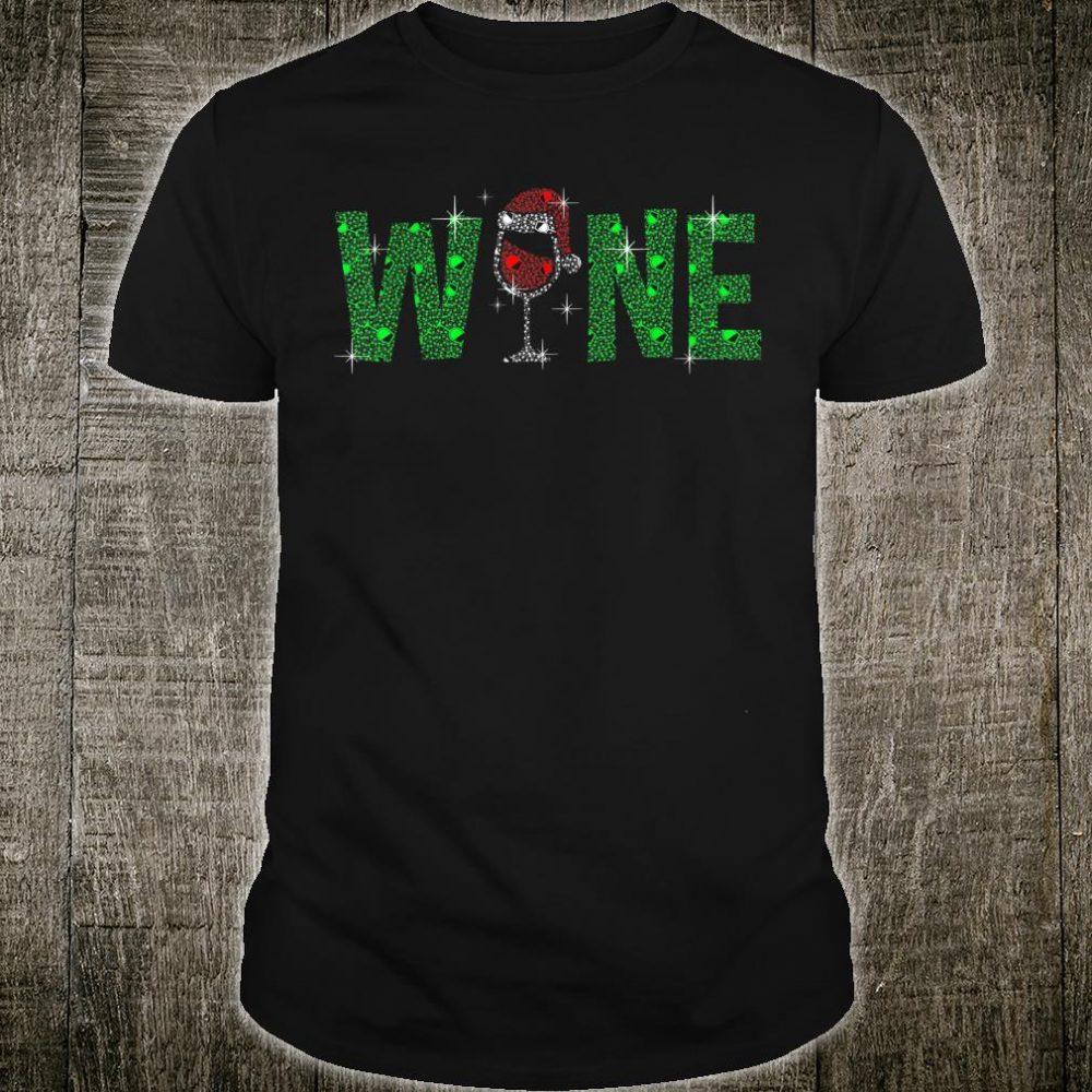 Red Wine Santa Hat Christmas Shirt