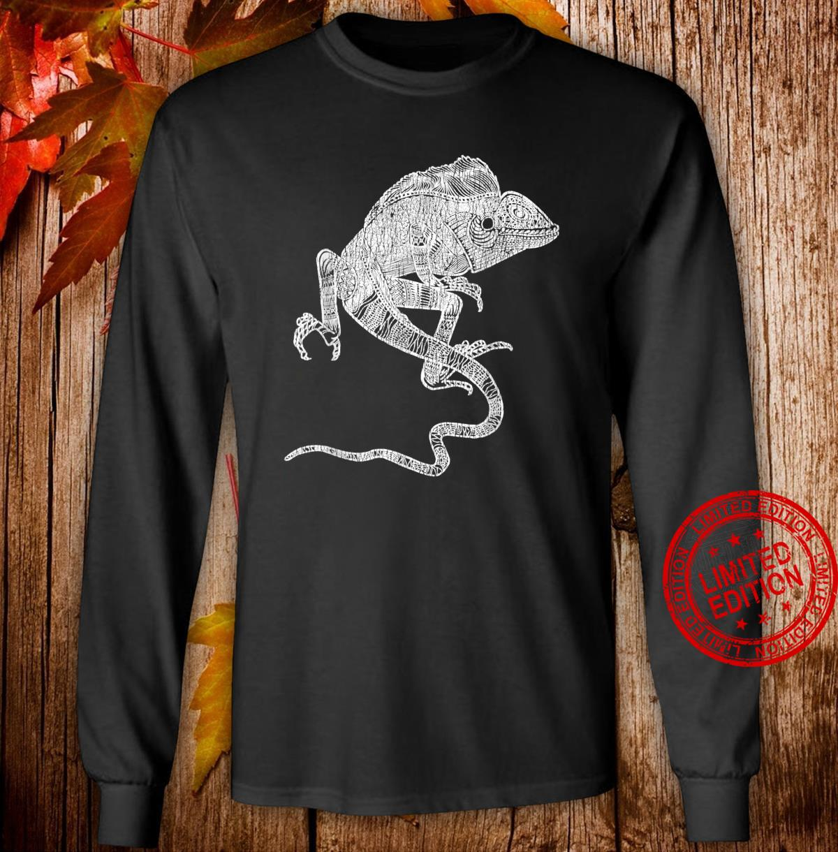 Reptilien Echse Leguan Shirt long sleeved