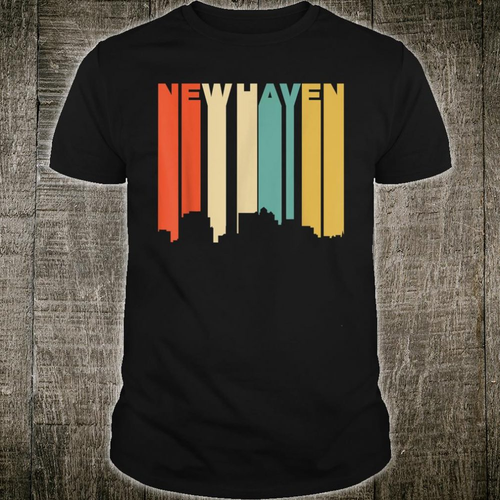 Retro 1970's Style New Haven Connecticut Skyline Shirt
