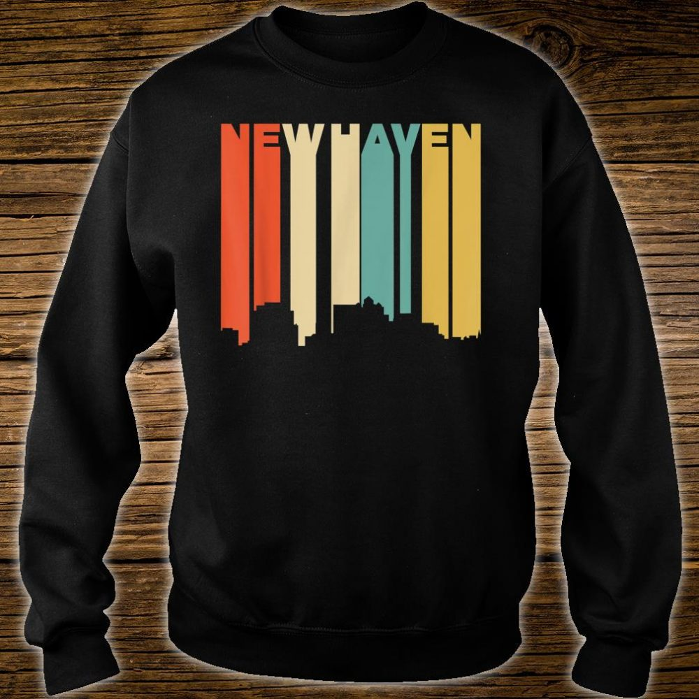 Retro 1970's Style New Haven Connecticut Skyline Shirt sweater