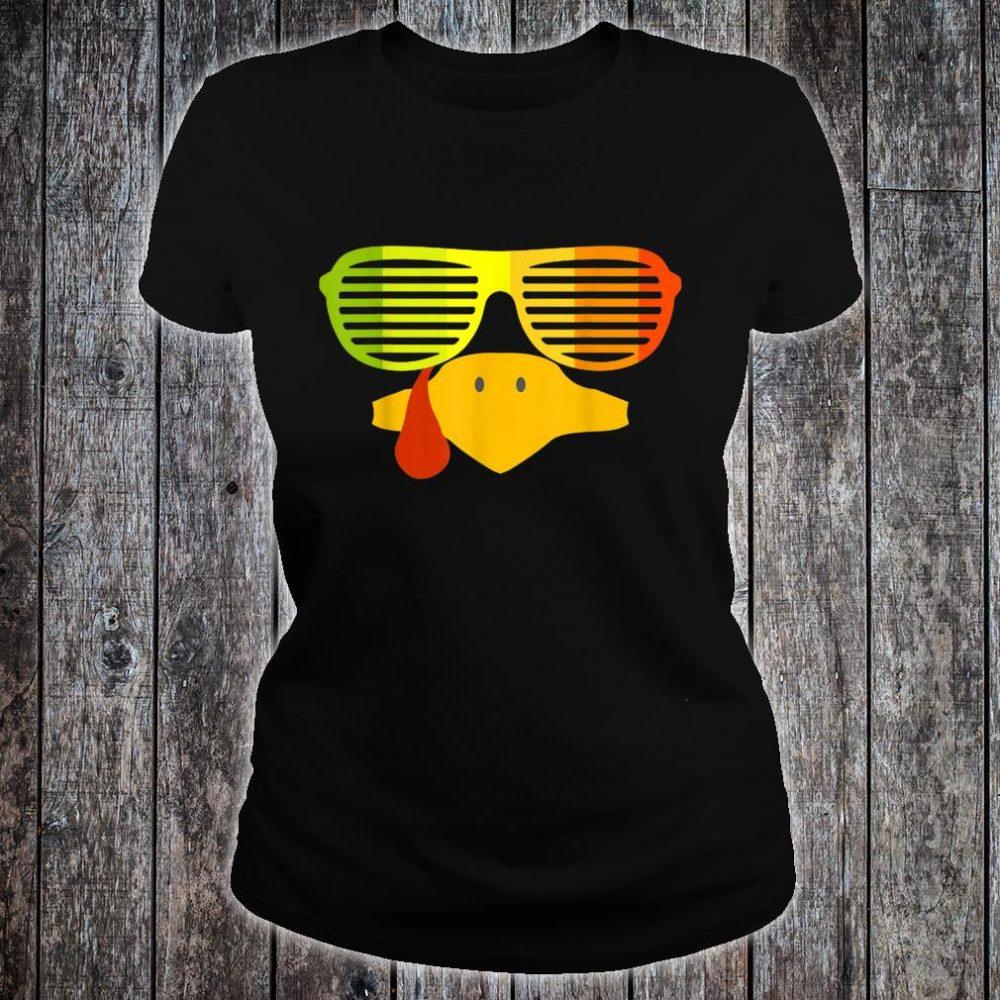 Retro 80s Sunglasses Shutter Shades Vintage Turkey Face Shirt ladies tee
