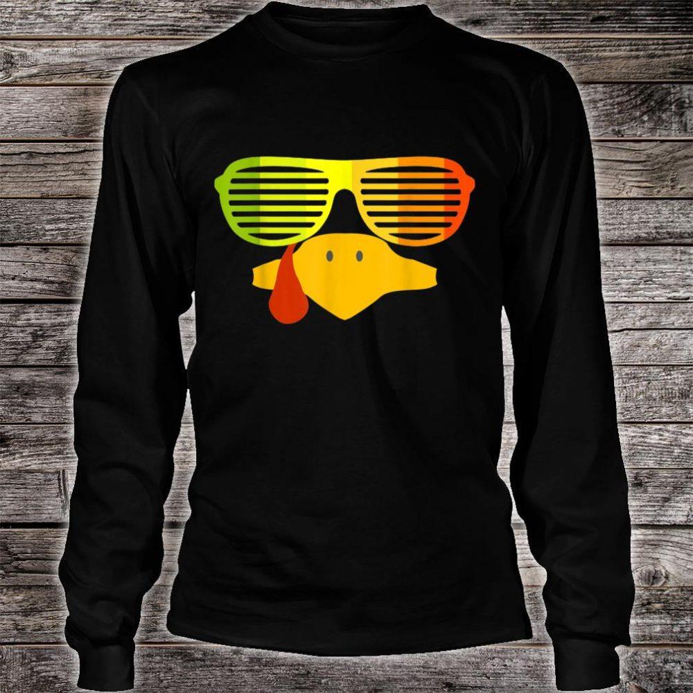 Retro 80s Sunglasses Shutter Shades Vintage Turkey Face Shirt long sleeved