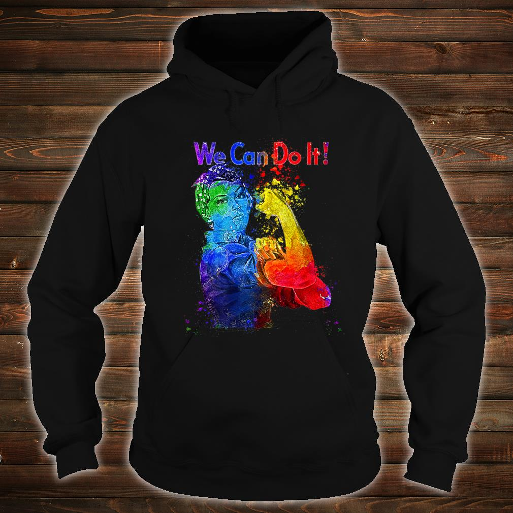 Rosie the Riveter We can Do It Watercolor Colorful Art LGBTQ Shirt hoodie