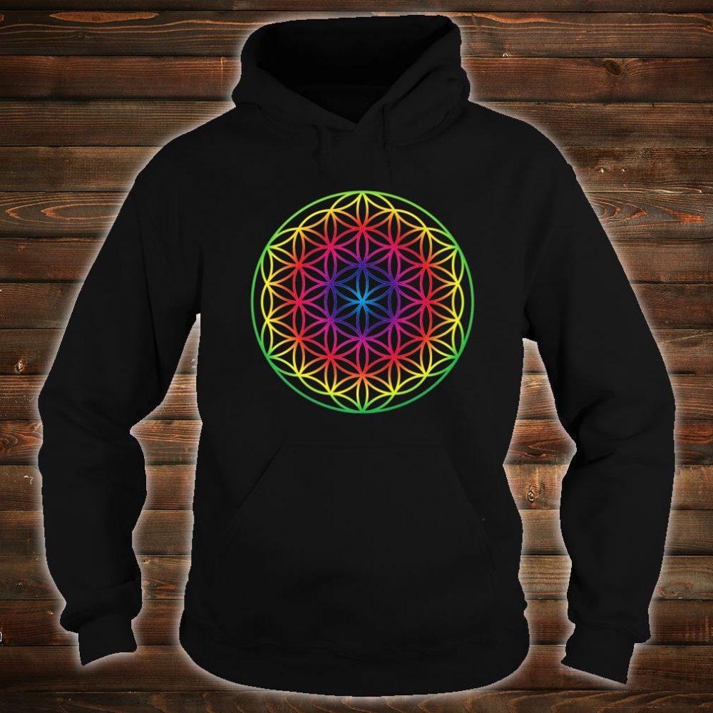 Sacred Geometry Flower Of Life Rainbow Mandala Shirt hoodie