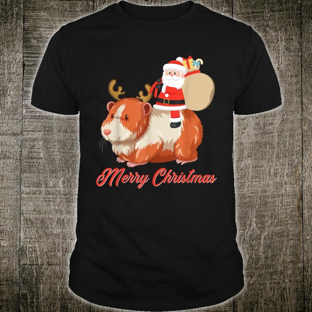 Santa Riding Guinea Pig Christmas Shirt