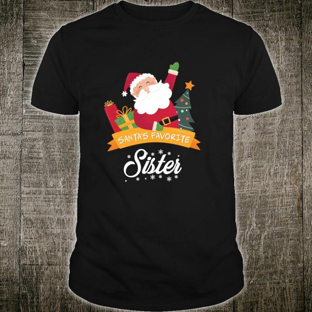Santa's Favorite Sister Christmas Costume Shirt