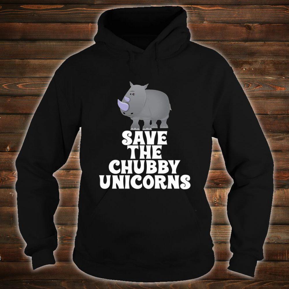 Save The Chubby Unicorns Rhino Shirt hoodie