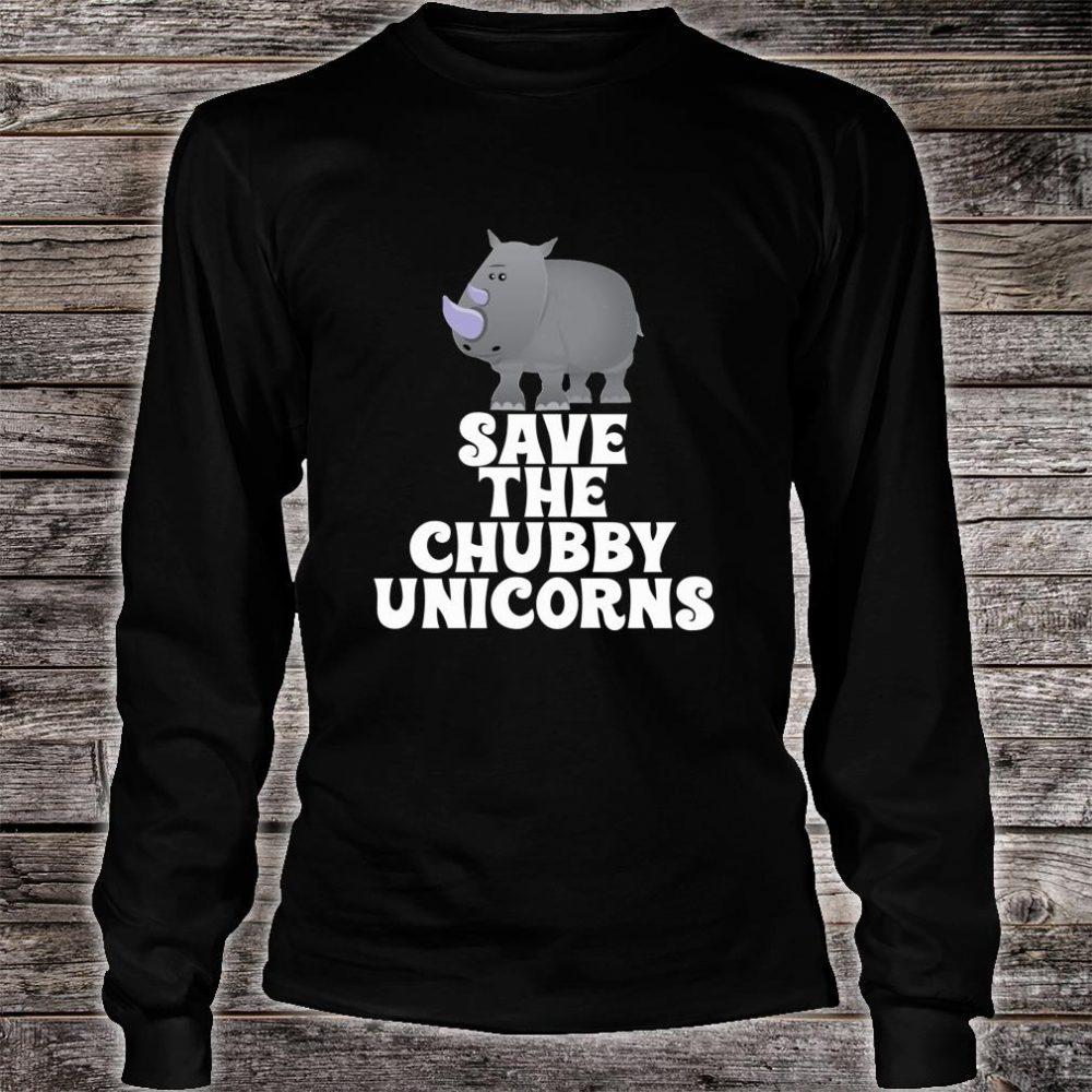 Save The Chubby Unicorns Rhino Shirt long sleeved
