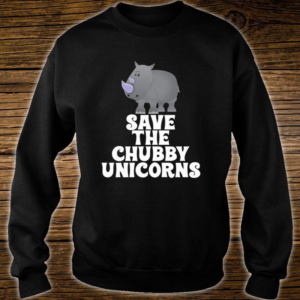 Save The Chubby Unicorns Rhino Shirt sweater