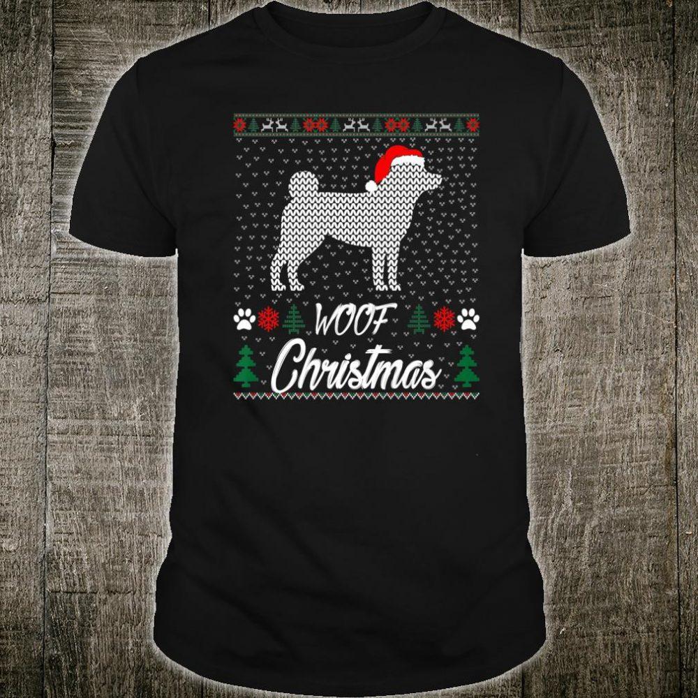 Shiba Inu Woof Christmas Pets Shirt