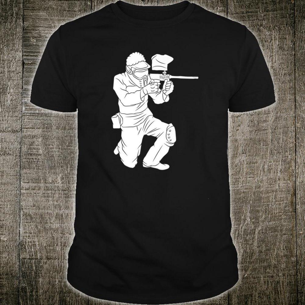 Silhouette Paintball Player Shooter Target Shooting Game Shirt
