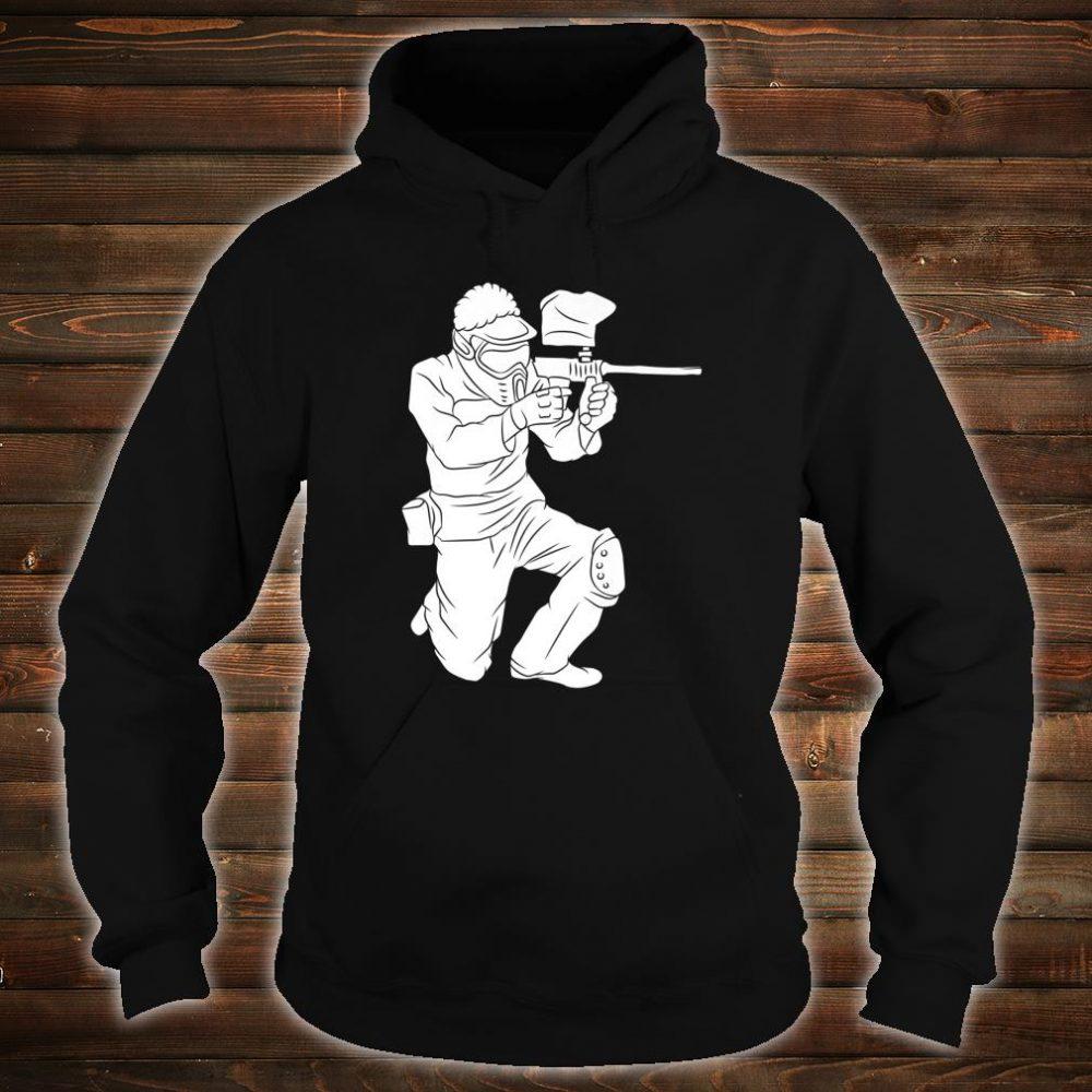 Silhouette Paintball Player Shooter Target Shooting Game Shirt hoodie