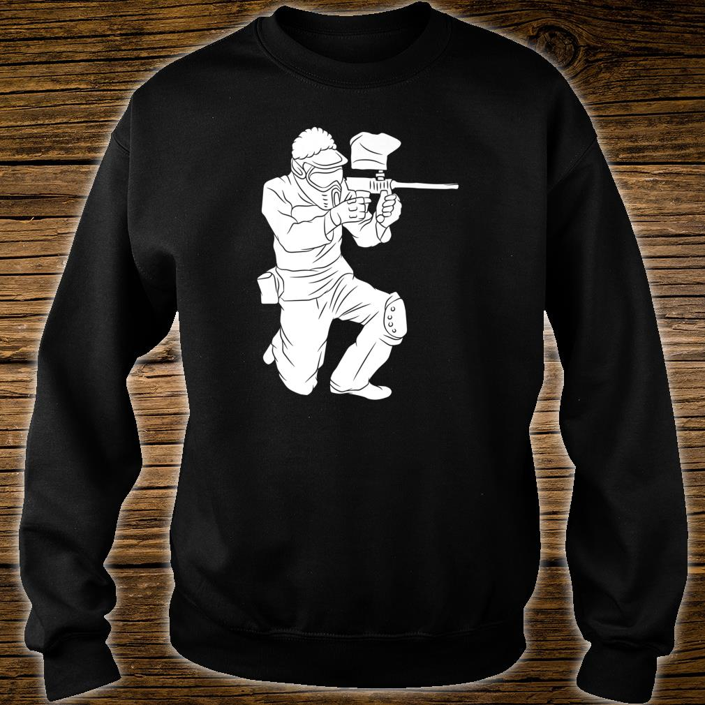 Silhouette Paintball Player Shooter Target Shooting Game Shirt sweater