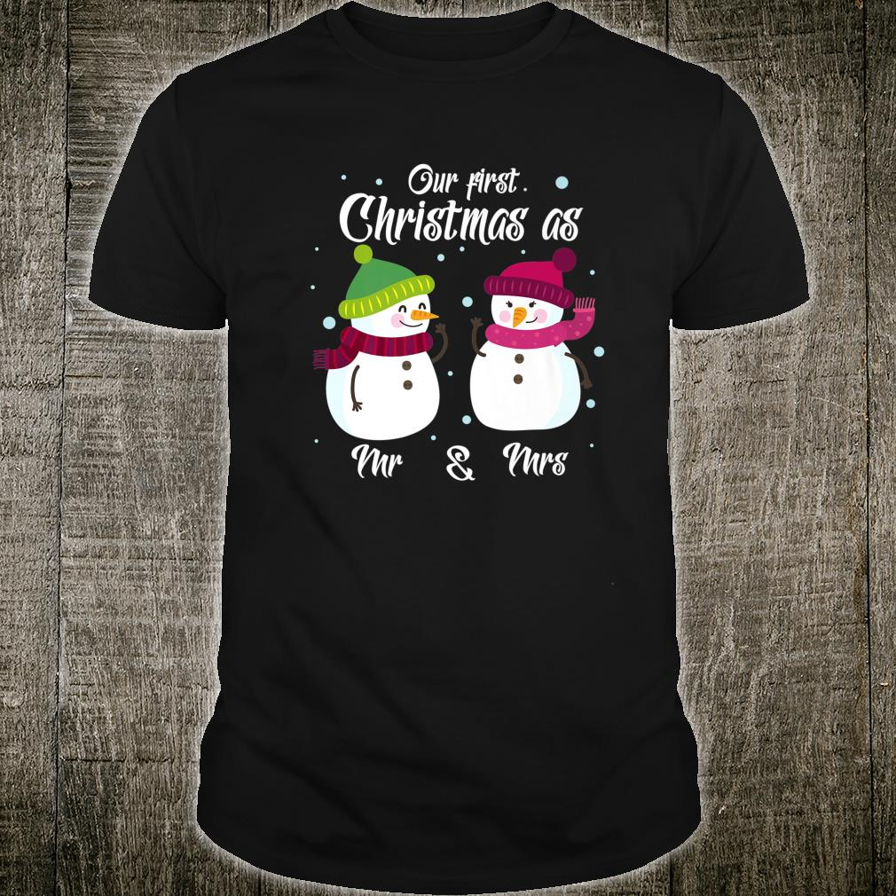 Snowman Christmas 2019 Xmas Married Marriage New Year Shirt