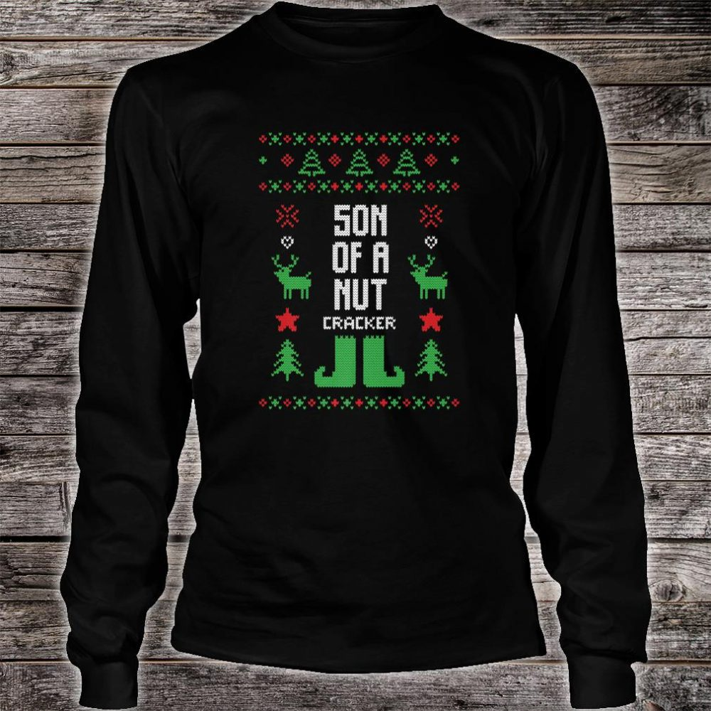 Son of a Nutcracker Ugly Christmas Party Shirt long sleeved