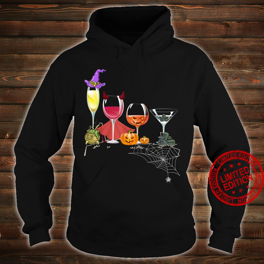 Spellbind Wine Glass Of Witchcraft Halloween Shirt Shirt hoodie