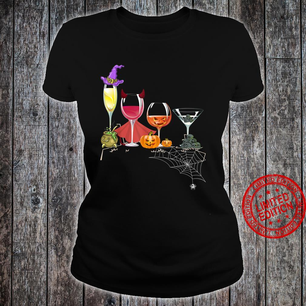 Spellbind Wine Glass Of Witchcraft Halloween Shirt Shirt ladies tee