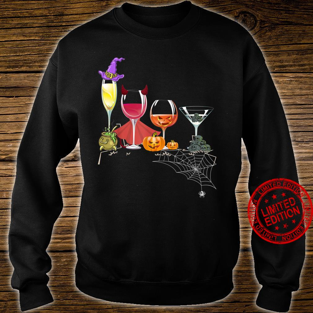 Spellbind Wine Glass Of Witchcraft Halloween Shirt Shirt sweater