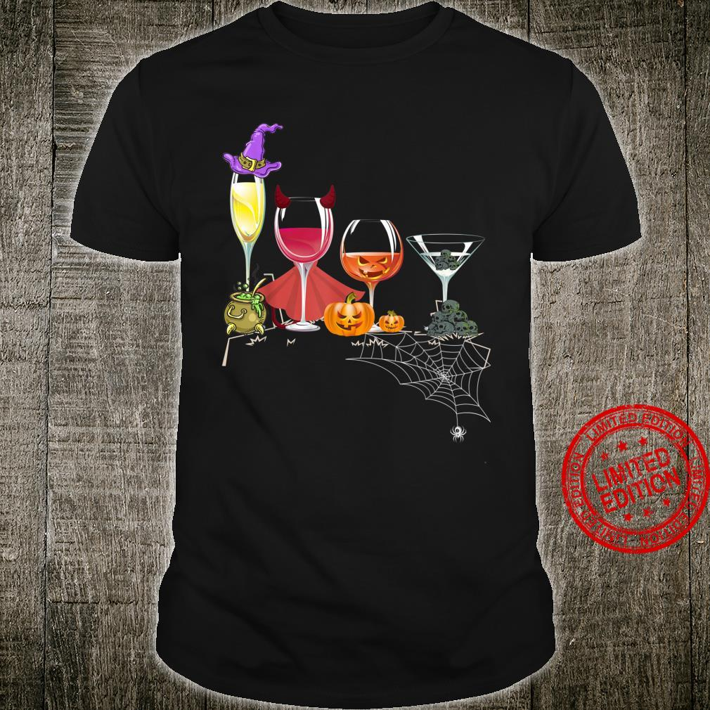 Spellbind Wine Glass Of Witchcraft Halloween Shirt Shirt