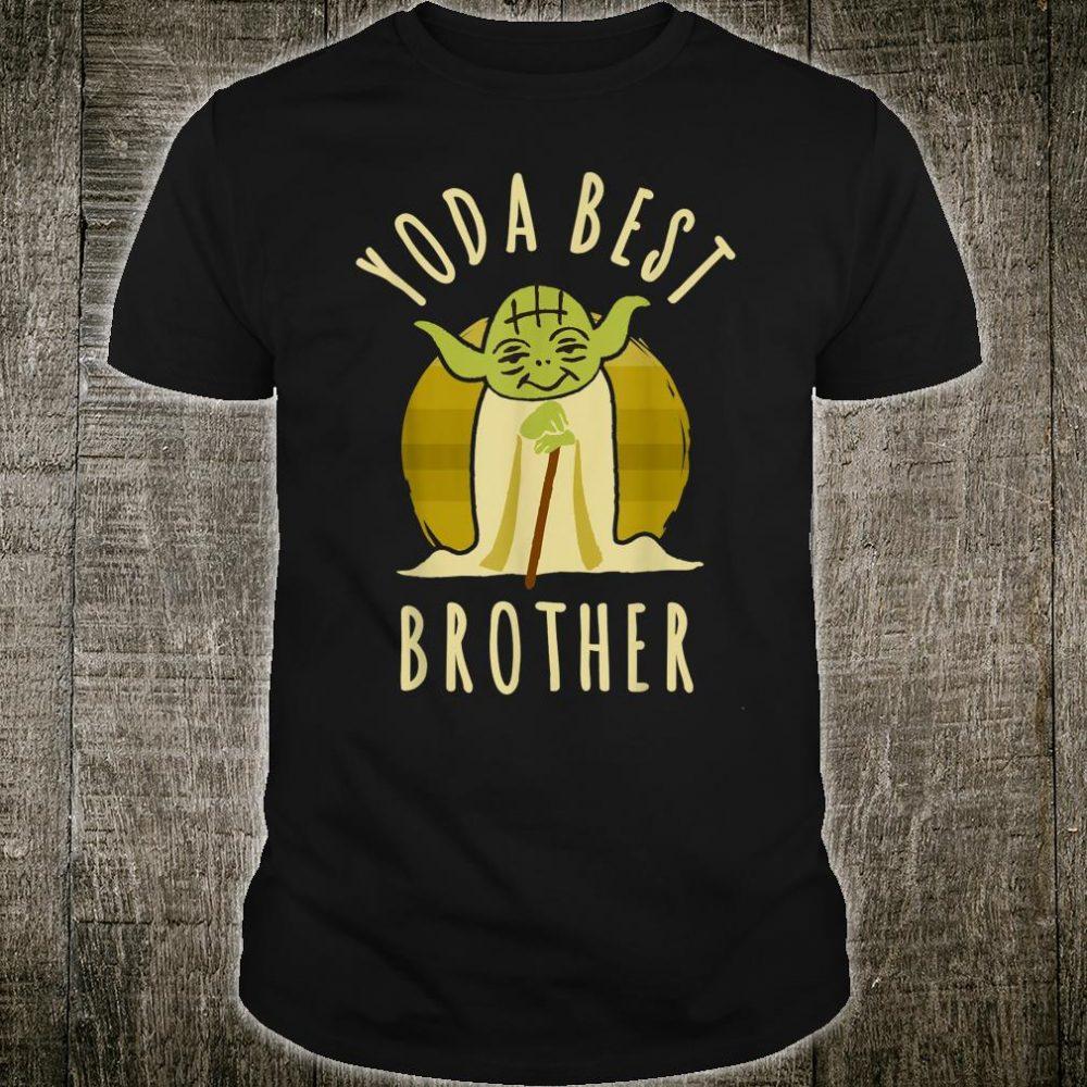 Star Wars Yoda Best Brother Cartoon Yoda Shirt