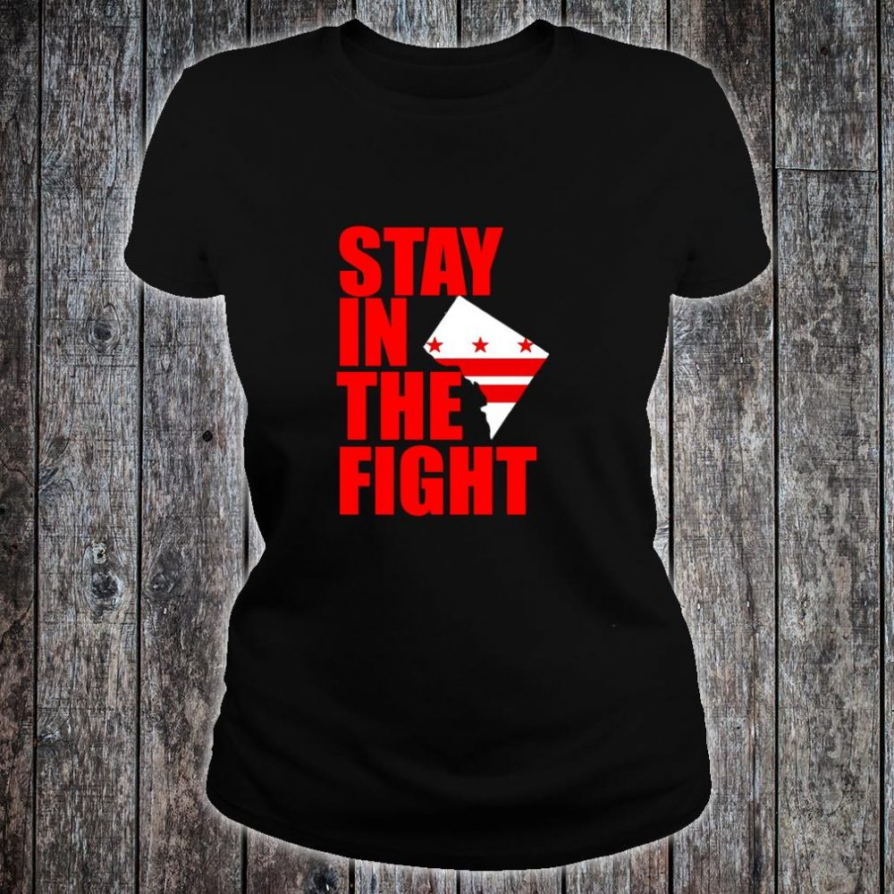 Stay in the Fight Washington Baseball Series National Flag Shirt ladies tee